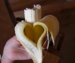 bananas, fruit, and heart image