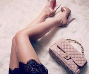 bag, fashion, and lace image