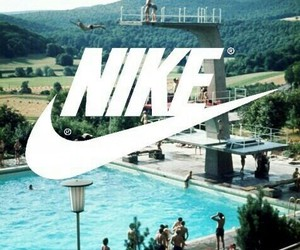 nike, summer, and pool image