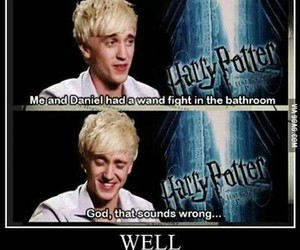 harry potter, funny, and tom felton image