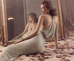dress, mirror, and woman image