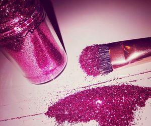 glitter, mac, and pink image