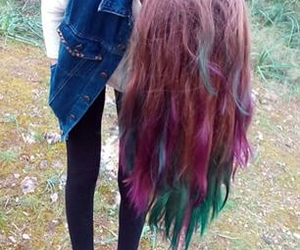 beautiful, colorful hair, and grunge image