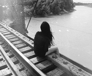 girl, alone, and water image