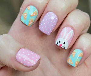 bunny, nails, and easter image