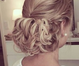 blond, bride, and girl image