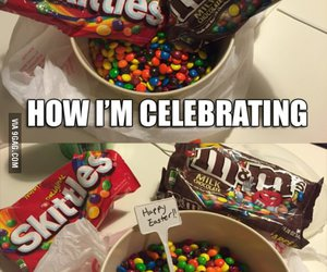 food, funny, and m&m image