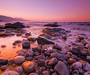 purple, seascape, and theunforgettablepictures image