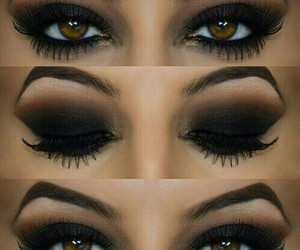 makeup, eyes, and black image