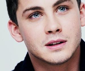 logan lerman, blue eyes, and boy image