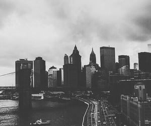 black and white, bw, and city image