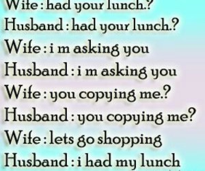funny, husband, and wife image