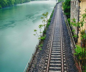 nature, train, and travel image