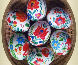 colors, easter eggs, and flowers image
