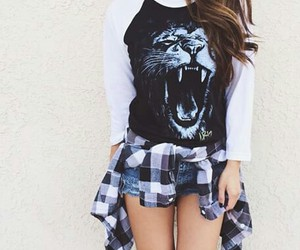 fashion, lion, and outfit image