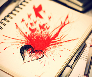heart, red, and drawing image