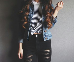 girl, indie, and jeans image