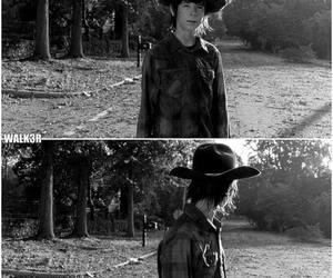 chandler riggs, carl grimes, and carl poppa image
