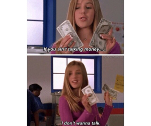 funny, girl, and money image
