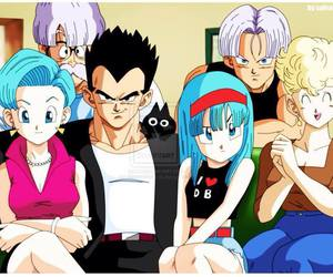 family, bulma, and vegeta image