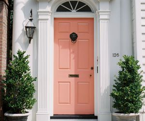 house, door, and peach image