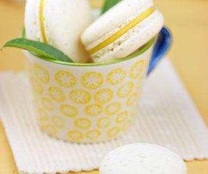 food, lemon, and macarons image