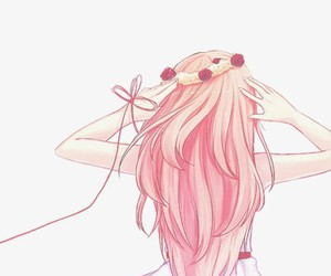 anime, pink, and vocaloid image