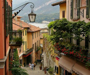 italy, bellagio, and lake image