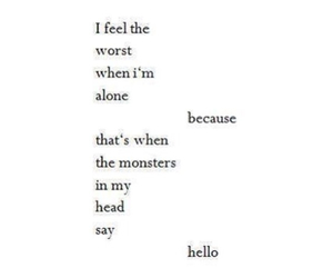 monster, alone, and sad image