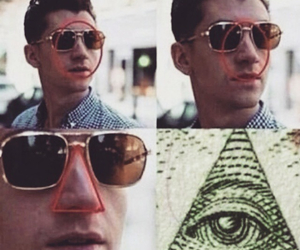 alex turner, arctic monkeys, and illuminati image