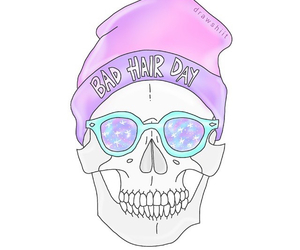 skull, overlay, and pastel image