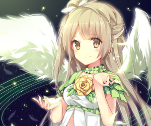 angel, drawing, and dress image