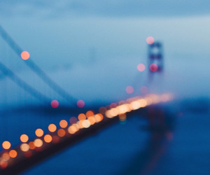 bridge, photography, and fog image