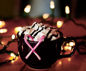 candy cane, chocolate, and yum image