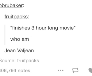 funny, les miserables, and tumblr image