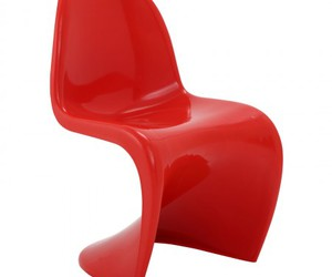 red chair, dining chair, and slither side chair image