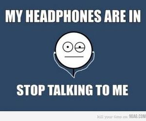 headphones, funny, and music image