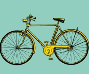 art, bicycle, and graphic image