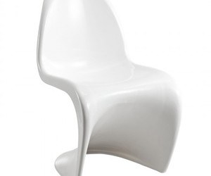 white chair, dining chair, and slither side chair image