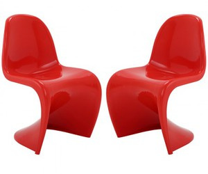 red chairs, dining chairs, and slither side chairs image
