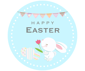 easter, happy, and flowers image