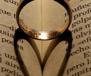 book, heart, and shadow image