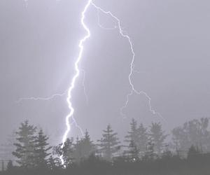 lightning, pale, and grunge image