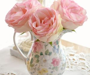 flowers, roses, and shabby chic image