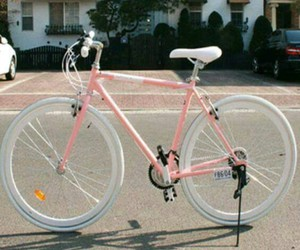 bike, simple, and pink image