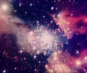 blue, galaxia, and pink image