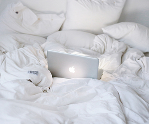 bed, white, and apple image