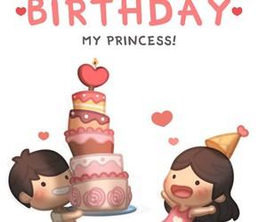 princess, happybirthday, and amor image