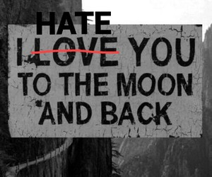hate, lovely, and moon image