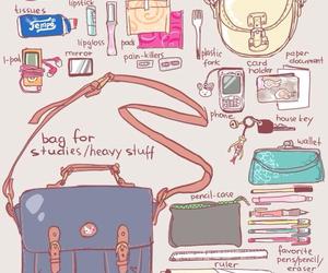 art, aki chan, and bag image